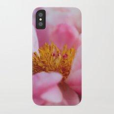 Peony Blossoms iPhone X Slim Case