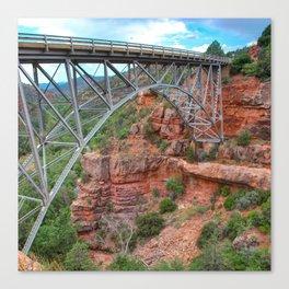 Midgley Bridge in Sedona Arizona - 1x1 Canvas Print
