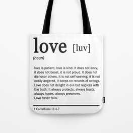 Meaning of Love Tote Bag