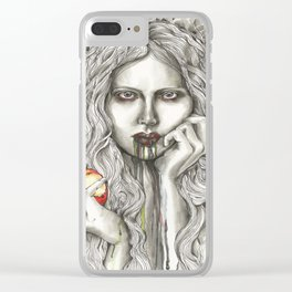 Bad Snow White Clear iPhone Case
