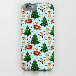 Blue Christmas - From Corgis, Santa And Christmas Trees iPhone Case
