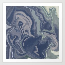 marbled / no.14 Art Print