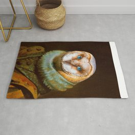 Animals - Funny Owl Painting Rug