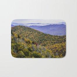 Mountain Fall Leaf Color Bath Mat