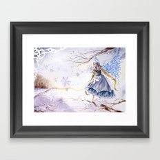 Winter faery Framed Art Print