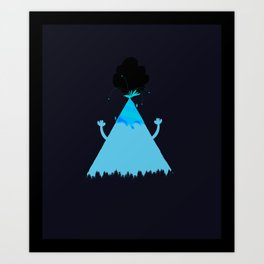Volcanoes Love to Party Art Print