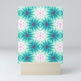 Soft Stars Pattern Mini Art Print