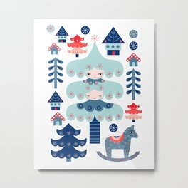 Nordic Winter Metal Print