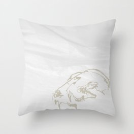 Pale Skull Throw Pillow