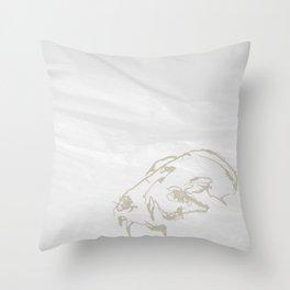 Pale Skull Throw Pillow