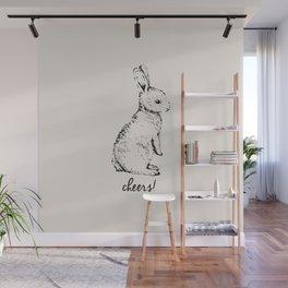 cheers little bunny Wall Mural