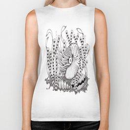Zentangle Nautilus in the Ocean Illustration Biker Tank