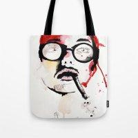 gemma correll Tote Bags featuring Gemma. by Stephanie June Ellis