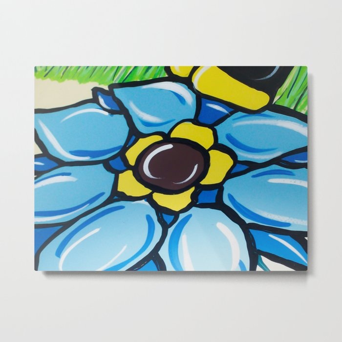 A Painting Of  A Flower Metal Print