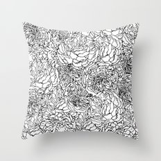 SPRING IN BLACK AND WHITE Throw Pillow
