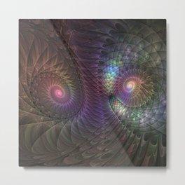 Fantasy Spirals Fractals Art Metal Print