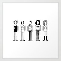spice girls Art Prints featuring Spice Girls by Band Land