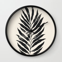 Botanical Tropical Branch 02 - Ink & Ivory Wall Clock