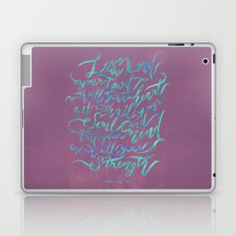 Love the Lord - Mark 12:30 (deep rose) Laptop & iPad Skin