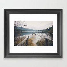 Dock - Fall Framed Art Print