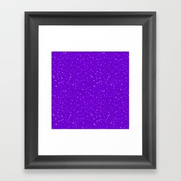 Speckles II: Purple Framed Art Print