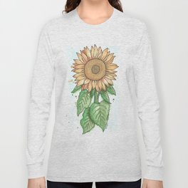 Cheerful Sunflower Long Sleeve T-shirt
