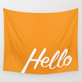 Hello Wall Tapestry