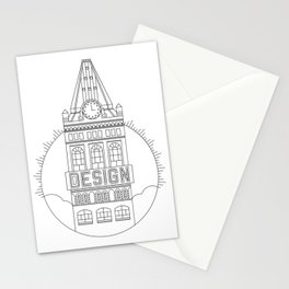 Oakland is Design (Black) Stationery Cards