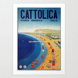 Cattolica 1920s Italy travel Art Print
