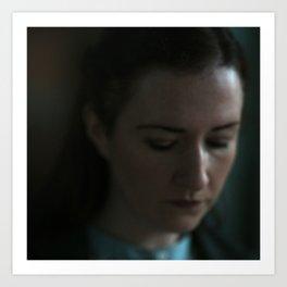 Young Woman Contemplating Art Print