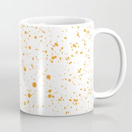 Orange Splatter Coffee Mug