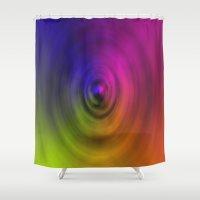 bond Shower Curtains featuring SPIRAL BOND by Robert Gipson