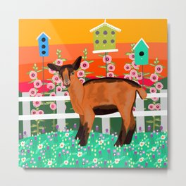 Little Goat in the Sunset Metal Print