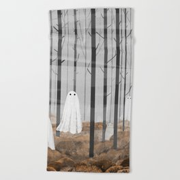 The Woods are full of Ghosts Beach Towel