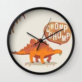 Stegosaurus Print Wall Clock