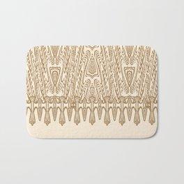 Sepia Macramé Arrowhead Chenille Lace Pattern Bath Mat