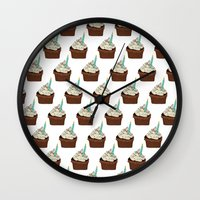 cake Wall Clocks featuring Cake by elyinspira