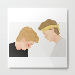 Skam, Isak and Even | Evak Illustration Metal Print