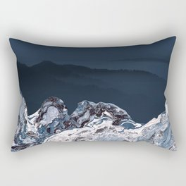 BLUE MARBLED MOUNTAINS Rectangular Pillow