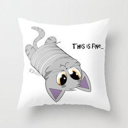 Caught Throw Pillow
