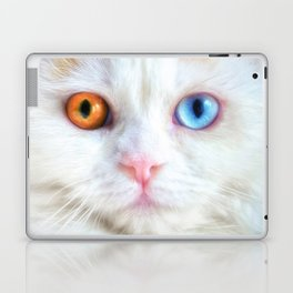 Odd-Eyed White Persian Kitten Laptop & iPad Skin