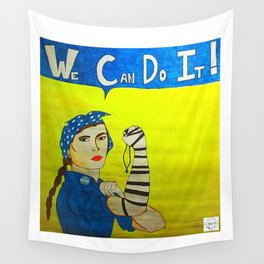 Jewish Rosie the Riveter Wall Tapestry