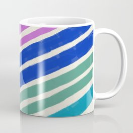 Color Lines Connections / Abstract Brushstrokes Pattern Coffee Mug