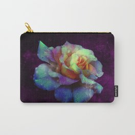 Purple Kissed Rose Carry-All Pouch
