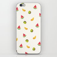 fruits iPhone & iPod Skins featuring Fruits by Carolin Vogt