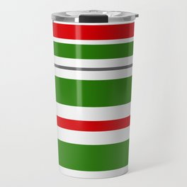 Candy Cane Lane Racer Stripe Travel Mug