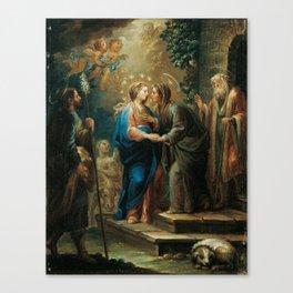 Jerónimo Ezquerra , The Visitation Canvas Print