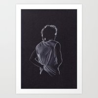 louis tomlinson Art Prints featuring Louis Tomlinson by Jen Eva