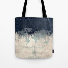 world map wanderlust forest 2 Tote Bag