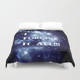 Blue Galaxy : I Forgive It All Duvet Cover